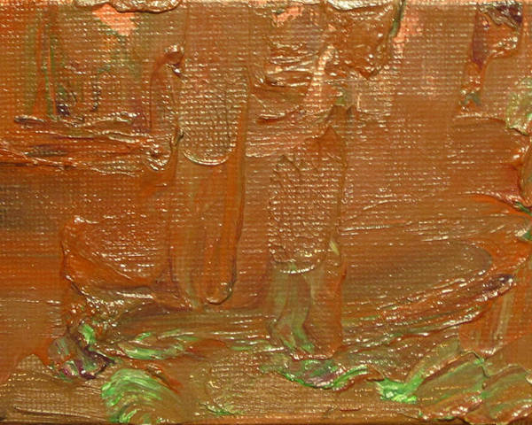 Abstract Poster featuring the painting Oxide I by Jeffrey Oleniacz