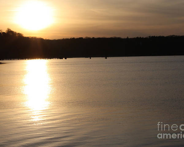 Oyster Bay Sunset Poster featuring the photograph Oyster Bay Sunset by John Telfer