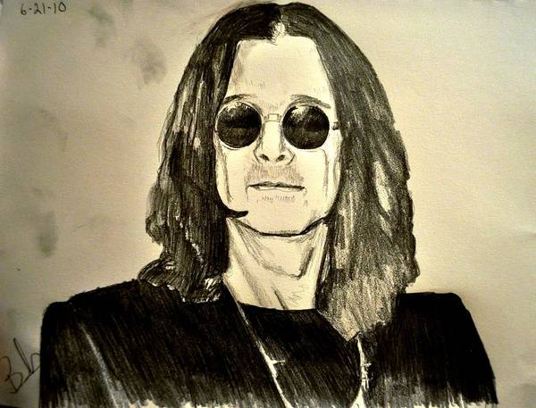 Ozzy Osbourne Poster featuring the drawing Ozzy Plain And Simple by Ruben Barbosa