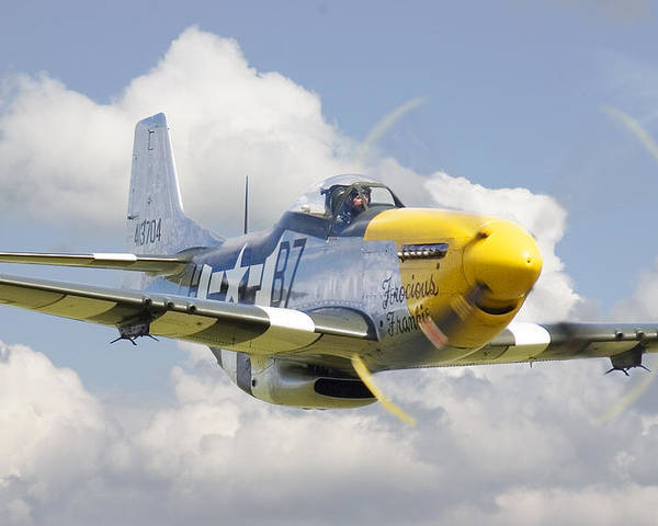 Aircraft Poster featuring the digital art P51 Ferocious Frankie by Pat Speirs