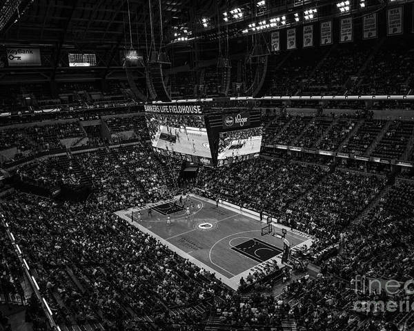Banker's Life Poster featuring the photograph Pacers Indiana by David Haskett