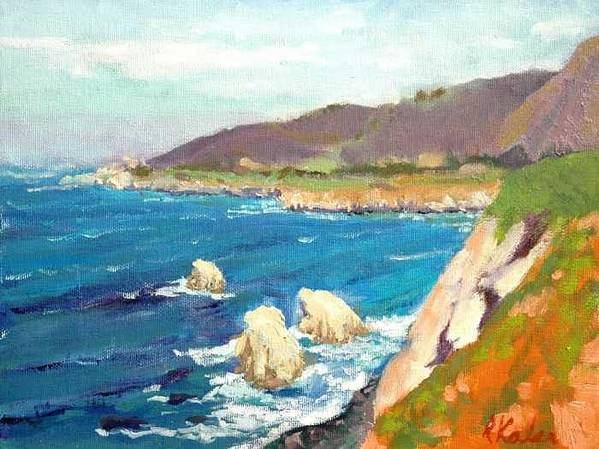 Poster featuring the painting Pacific Coast by Raymond Kaler
