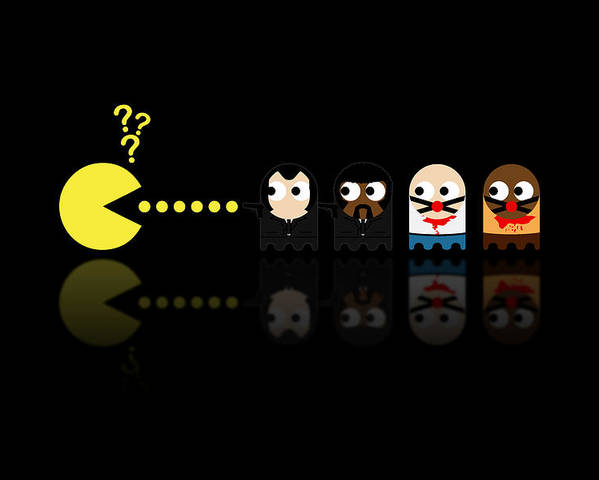Pacman Poster featuring the digital art Pacman Pulp Fiction by NicoWriter