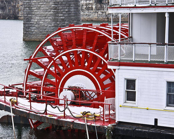 Delta Queen Poster featuring the photograph Paddle Wheel by Tom and Pat Cory