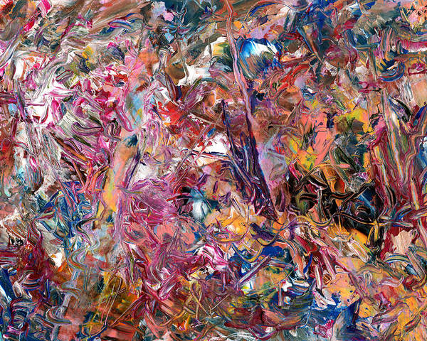 Abstract Poster featuring the painting Paint Number 49 by James W Johnson
