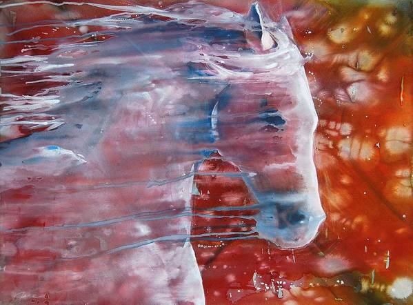Horse Art Poster featuring the painting Painted By The Wind by Jani Freimann