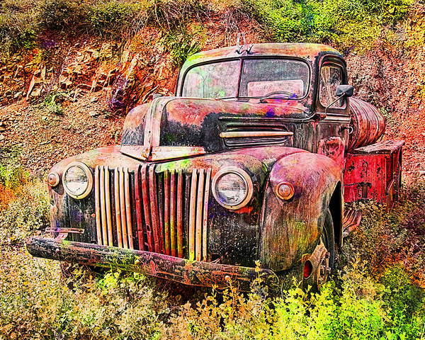 Ford Poster featuring the photograph Painted Ford by Robert Jensen