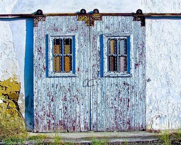 Doors Poster featuring the photograph Painty Flakey Garage Doors by Matt Rice