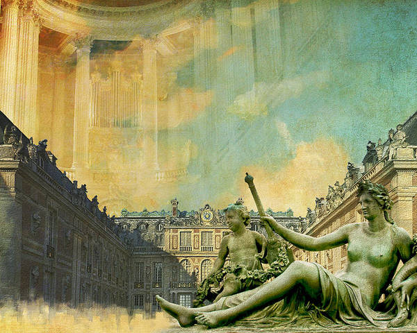 Western Ghats Poster featuring the painting Palace And Park Of Versailles Unesco World Heritage Site by Catf