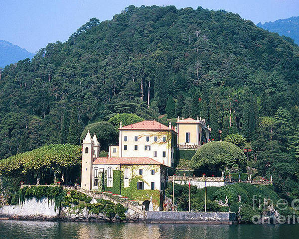 Lake Como Poster featuring the photograph Palace At Lake Como Italy by Greta Corens