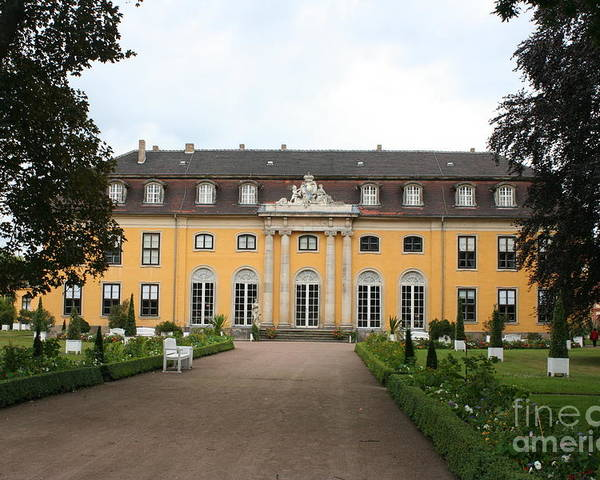 Palace Poster featuring the photograph Palace Mosigkau - Germany by Christiane Schulze Art And Photography
