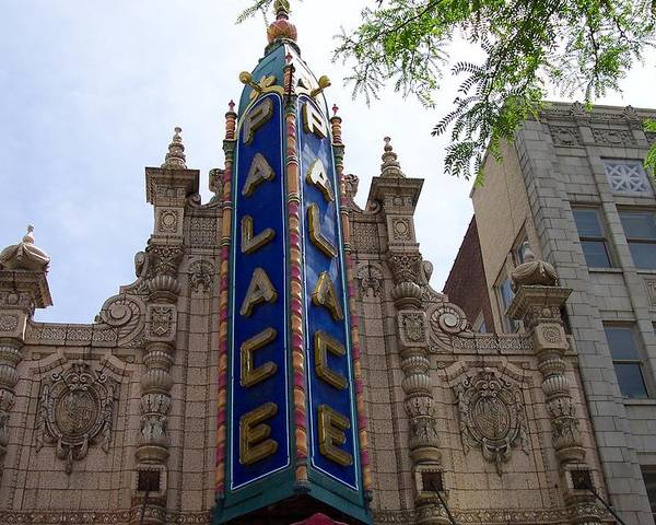 Palace Theater Poster featuring the photograph Palace Theater by Pamela Schreckengost