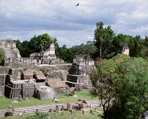 America Poster featuring the digital art Palenque Ruins by Roy Pedersen
