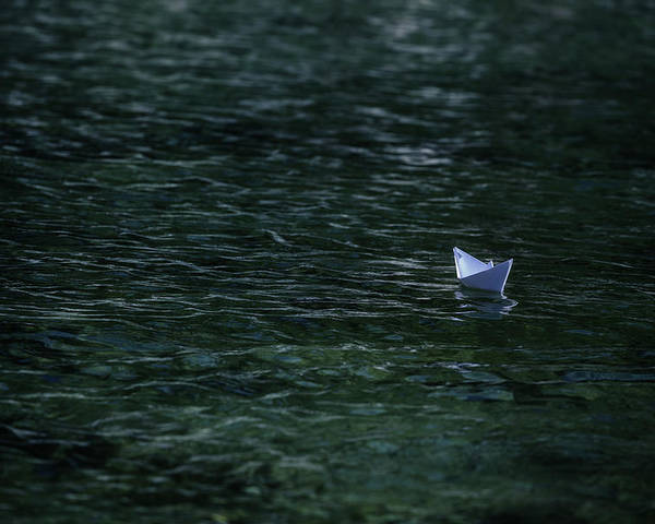 Paper Boat Poster featuring the photograph Paper Boat by Joana Kruse