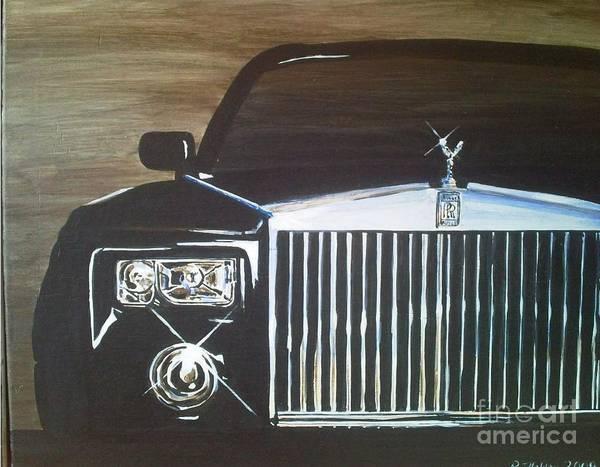 Rolls Royce Poster featuring the painting Par De Elegance Rolls Royce Phantom by Richard John Holden RA