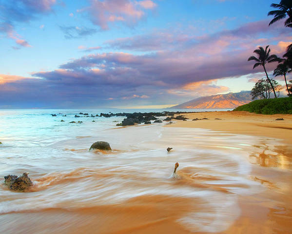 Sunrise Poster featuring the photograph Paradise Dawn by Mike Dawson