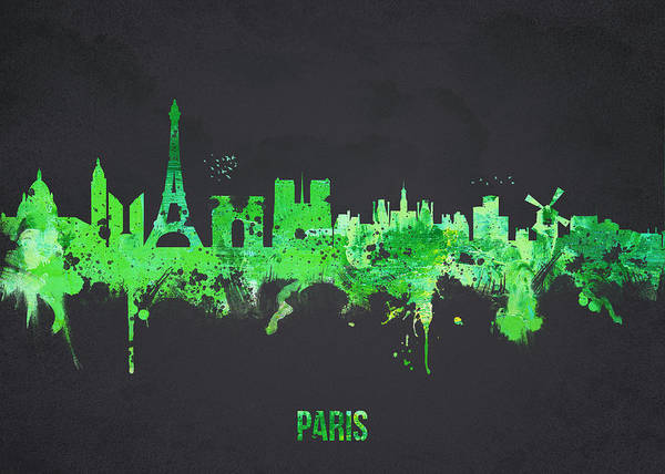 Architecture Poster featuring the digital art Paris France by Aged Pixel