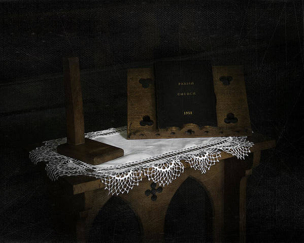Religion Poster featuring the photograph Parish Church Book by Svetlana Sewell