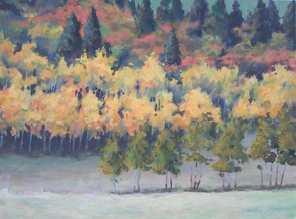Landscape Poster featuring the painting Park City Meadow by Philip Fleischer