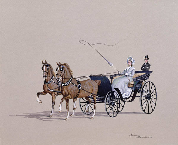 Coaching Scenes Poster featuring the painting Park Phaeton by Ninetta Butterworth