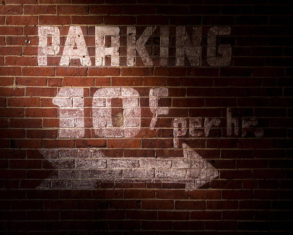 Sign Poster featuring the photograph Parking Ten Cents by Bob Orsillo