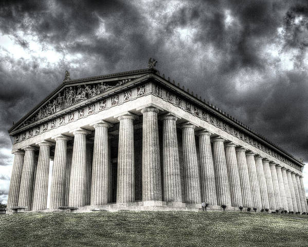 Parthenon Poster featuring the digital art Parthenon Of Nashville by Honour Hall