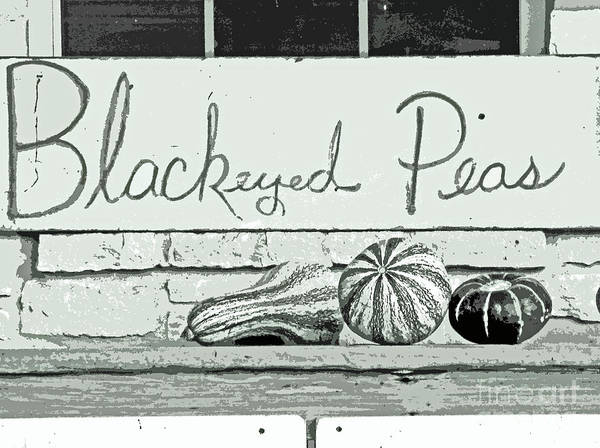 Black And White Horizontal Vegetable Print Poster featuring the photograph Pass The Peas Please by Joe Jake Pratt