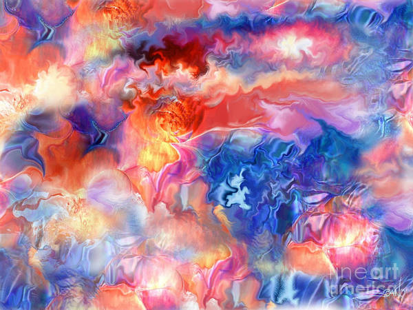 Spano Poster featuring the painting Pastel Storm By Spano by Michael Spano