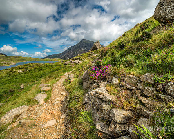Hdr Poster featuring the photograph Path To Lake Idwal by Adrian Evans