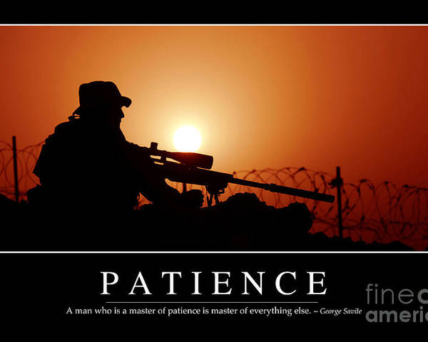 Horizontal Poster featuring the photograph Patience Inspirational Quote by Stocktrek Images