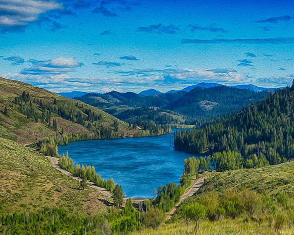 Patterson Lake In The Summer Poster featuring the photograph Patterson Lake In The Summer by Omaste Witkowski
