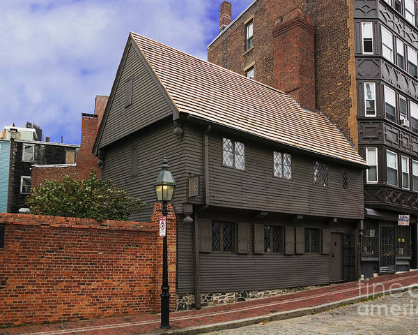 History Poster featuring the photograph Paul Revere House by David Davis