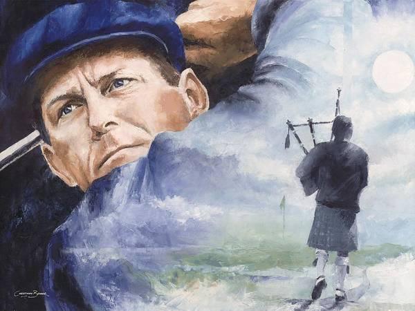 Payne Poster featuring the painting Payne Stewart by Christiaan Bekker