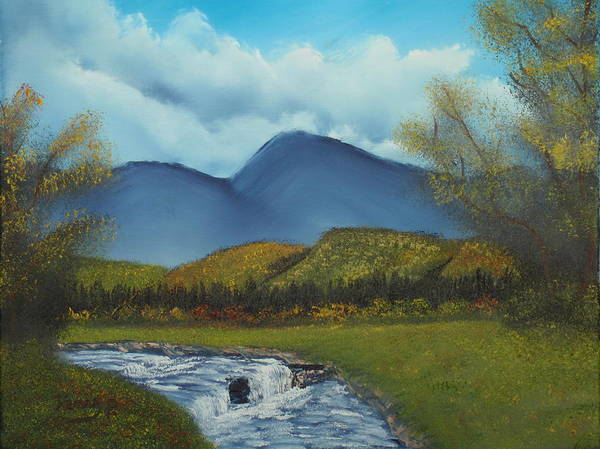 Stream Poster featuring the painting Peaceful Valley by Henry Parker