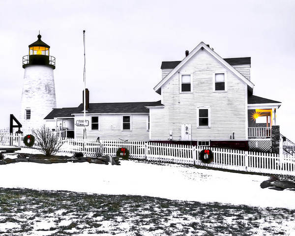 Bristol Poster featuring the photograph Pemaquid Lighthouse by Brenda Giasson