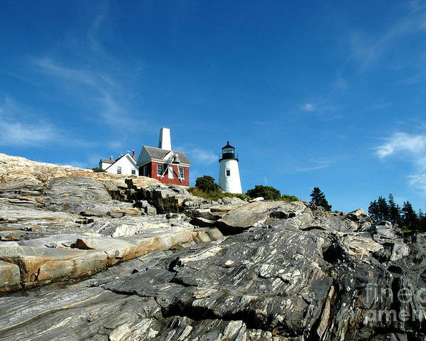 Maine Poster featuring the photograph Pemaquid Point by Alan Russo