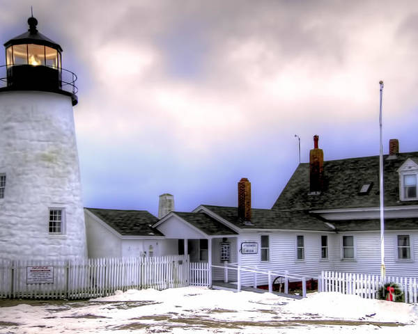 Bristol Poster featuring the photograph Pemaquid Point Lighthouse by Brenda Giasson