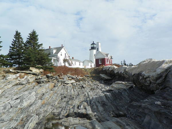 Pemaquid Point Lighthouse Lighthouse Maine Midcoast Pemaquid Point New England Lighthouses Poster featuring the photograph Pemaquid Point Lighthouse by Joseph Rennie