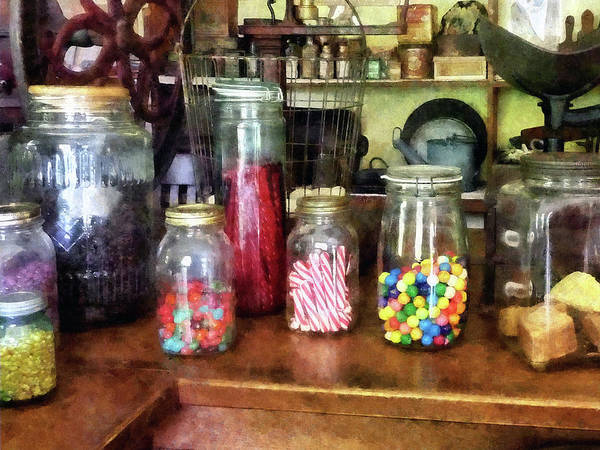 General Store Poster featuring the photograph Penny Candies by Susan Savad