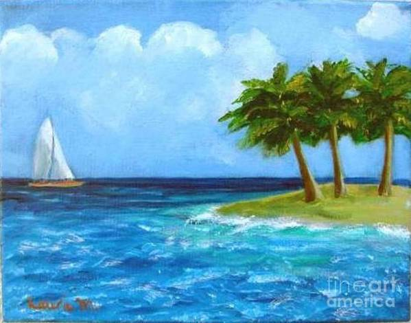 Boats Poster featuring the painting Perfect Sailing Day by Laurie Morgan