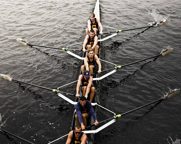 Head Of The Charles Poster featuring the photograph Perseverance by Melanie McKinney