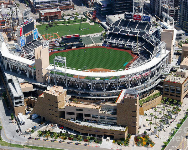 San Diego Poster featuring the photograph Petco Park San Diego Ca by Bill Cobb