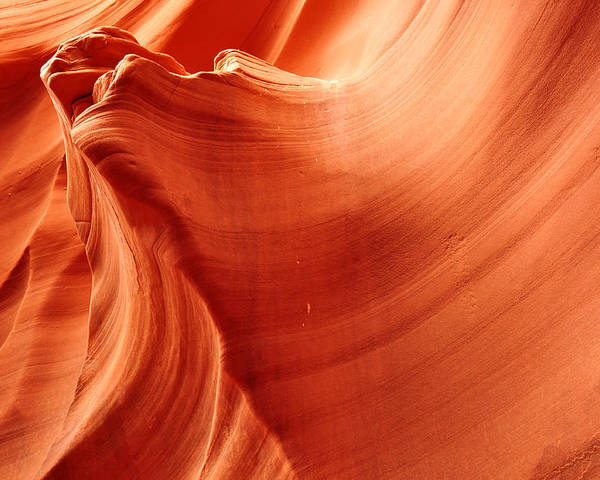 Antelope Canyon Poster featuring the photograph Petrified by Andrew Broom