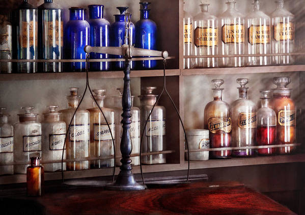 Pharmaceutical Poster featuring the photograph Pharmacy - Apothecarius by Mike Savad
