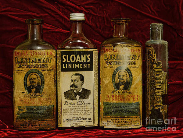 Paul Ward Poster featuring the photograph Pharmacy - Liniments For Sore Muscles by Paul Ward