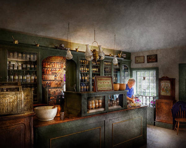 Doctor Poster featuring the photograph Pharmacy - Morning Preparations by Mike Savad