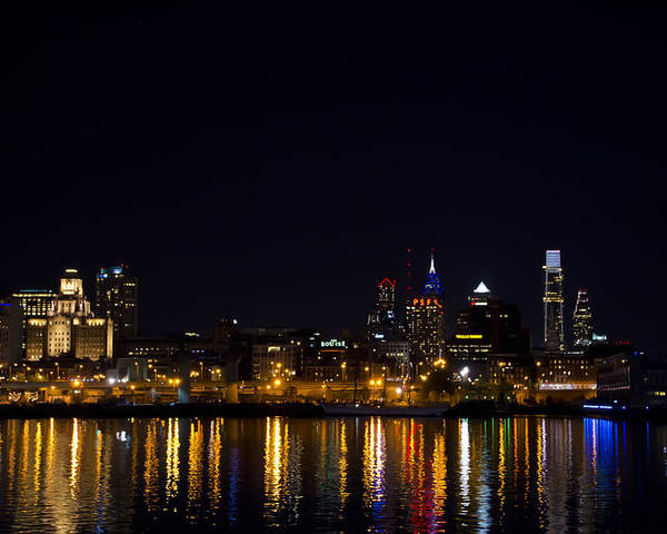Phila Poster featuring the photograph Philadelphia - Bright Lights Big City by Bill Cannon