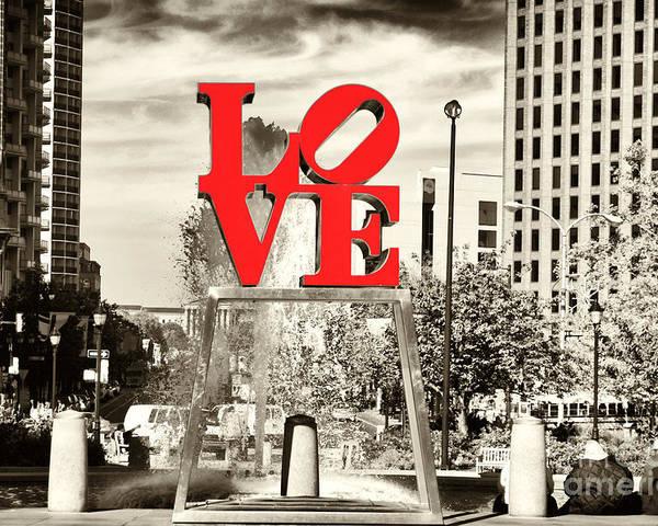 Philadelphia Love Poster featuring the photograph Philadelphia Love Mixed by John Rizzuto