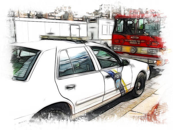 911 Poster featuring the photograph Philadelphia Police Car by Fiona Messenger