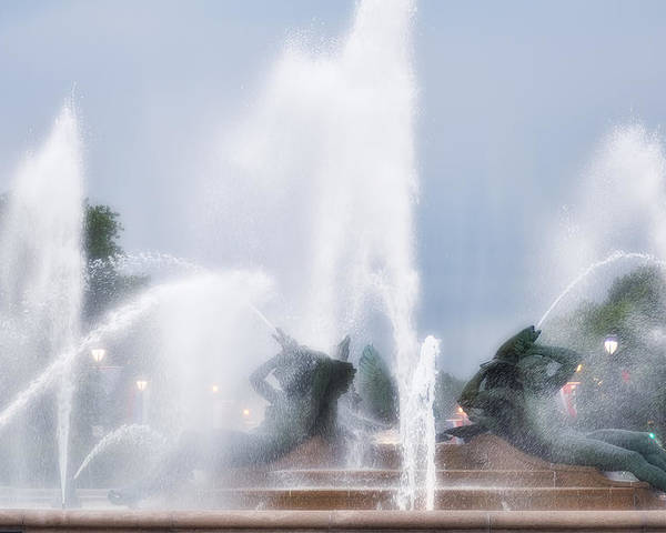 Fountain Poster featuring the photograph Philadelphia - Swann Memorial Fountain by Bill Cannon